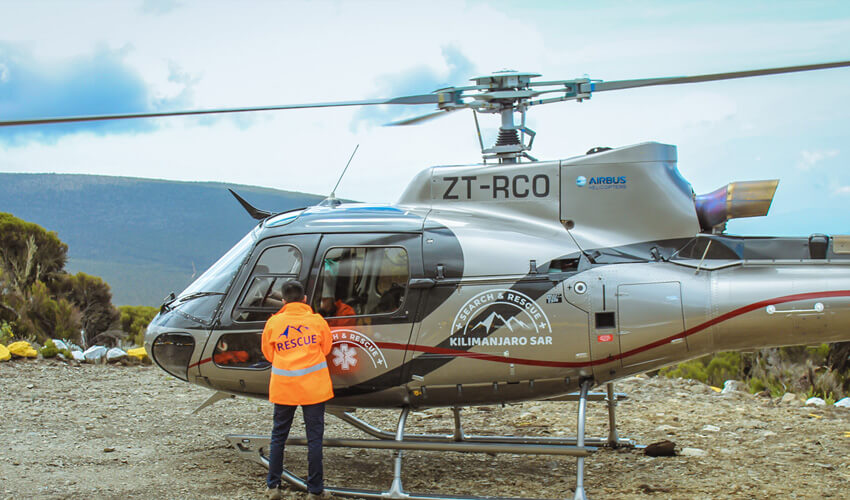 Mount Kilimanjaro Search and Rescue Helicopter