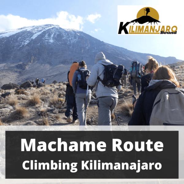 Machame Route Kilimanjaro Trekking 31 October to 8 November 2020