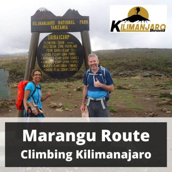 Marangu Route Trekking Kilimanjaro 19 August to 26 August 2020