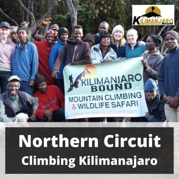 Northern Circuit Route Climbing Kilimanjaro 7 to 17 Jan 2020