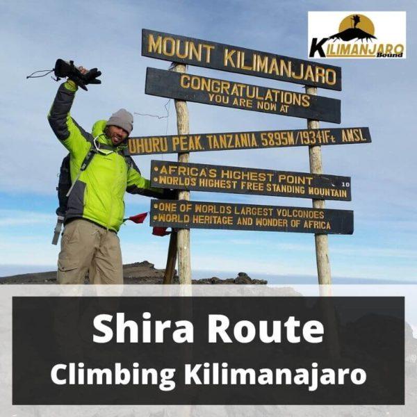 Shira Route Climbing Kilimanjaro 22 April to 1 May 2020